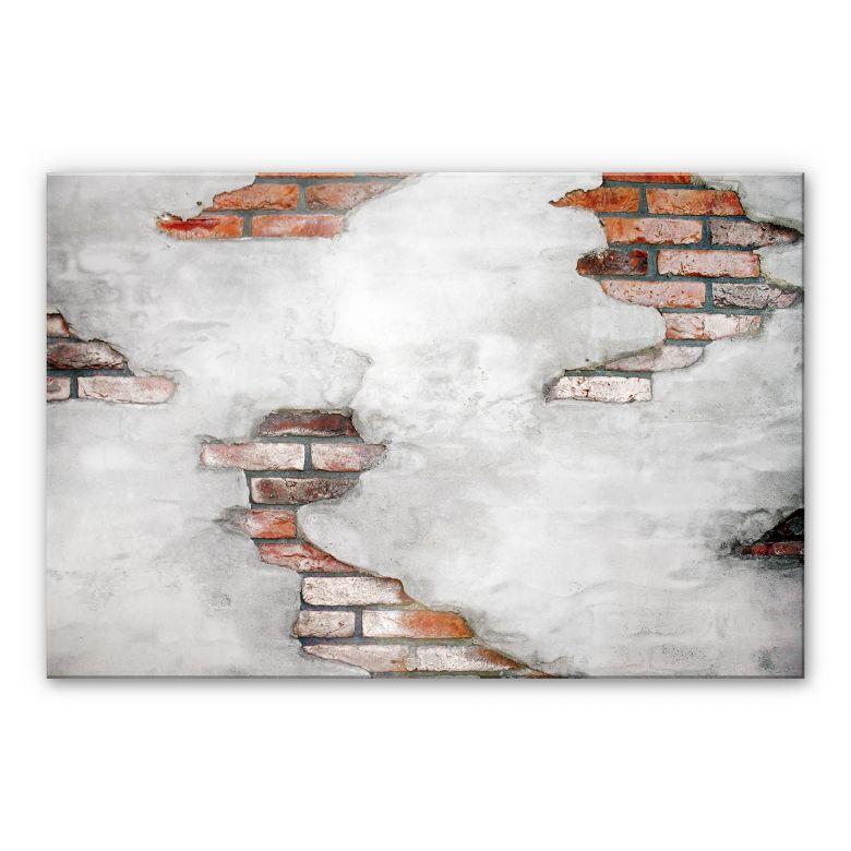Acrylglasbild Backsteinmauer 02