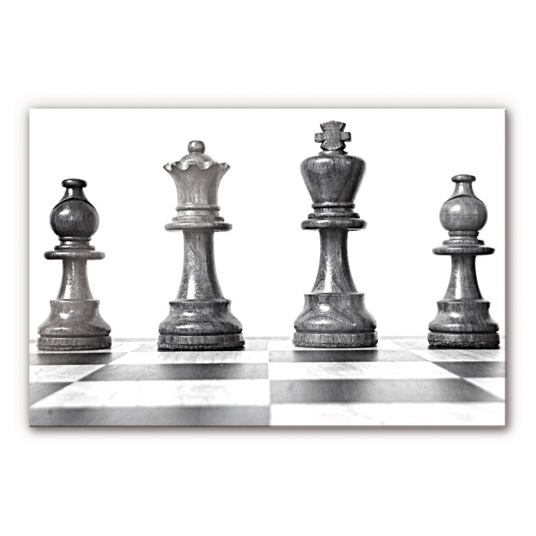 Acrylglasbild Schach Symmetrie