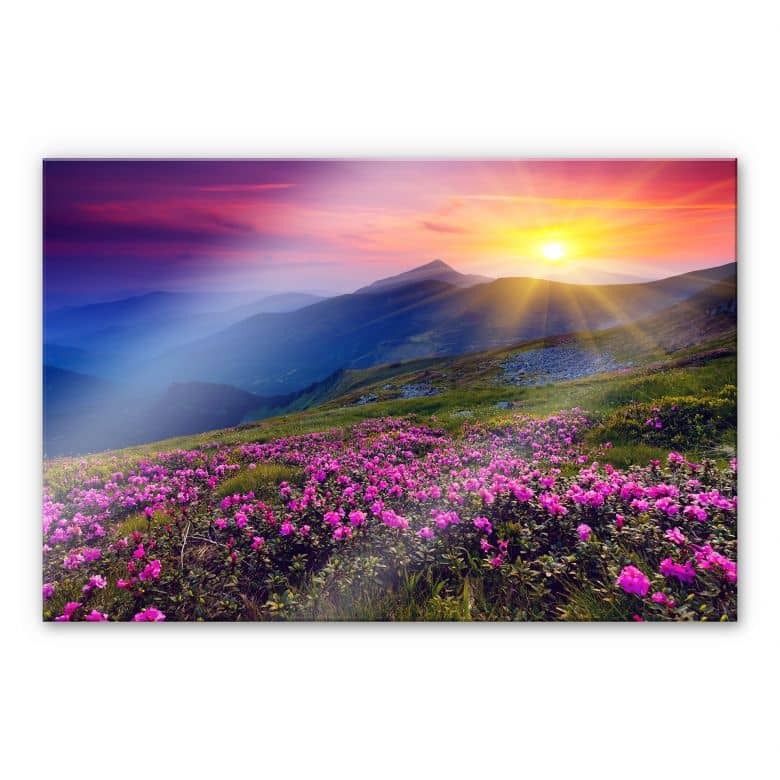 Sunset in the Mountains XXL Wall picture