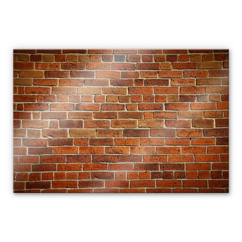 XXL Wandbild Ziegelsteinmauer