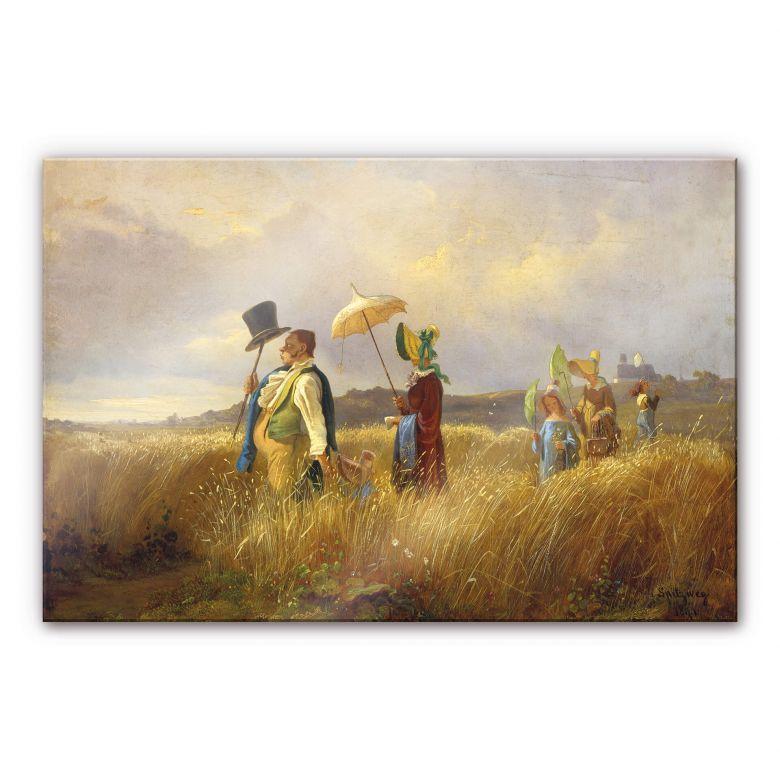 Acrylglasbild Spitzweg - Der Sonntagsspaziergang