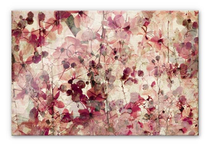 XXL Wandbild Vintage Blütenmuster
