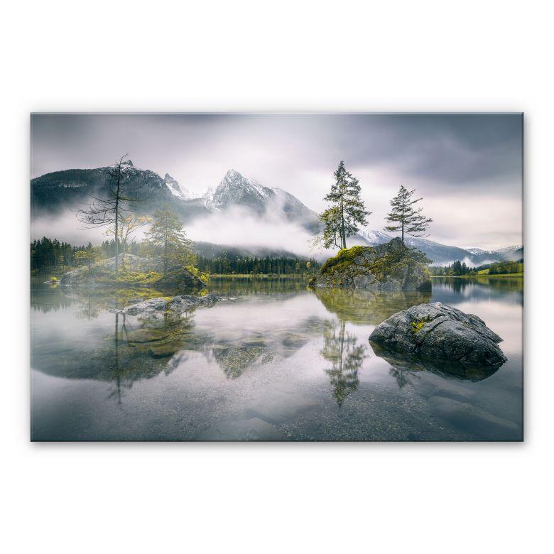 Acrylglasbild Wiemer - Nebel über Hintersee