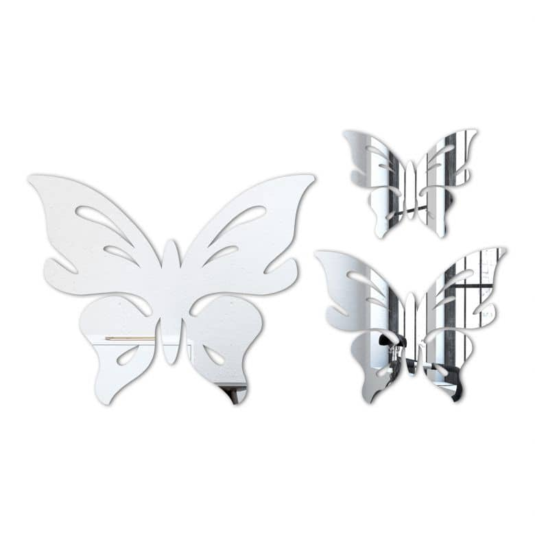 Miroir mural - Set papillon floris (3 parties)