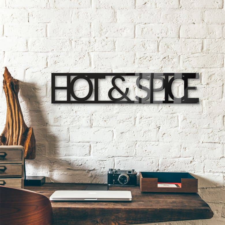 Acrylbuchstaben Hot & Spice