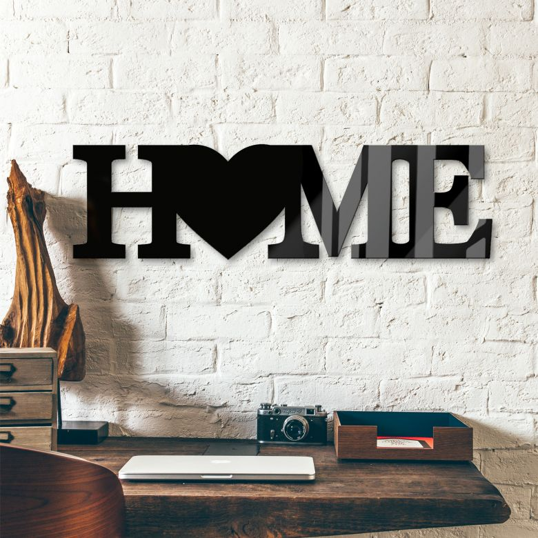 Acrylic Letters HOME - Heart