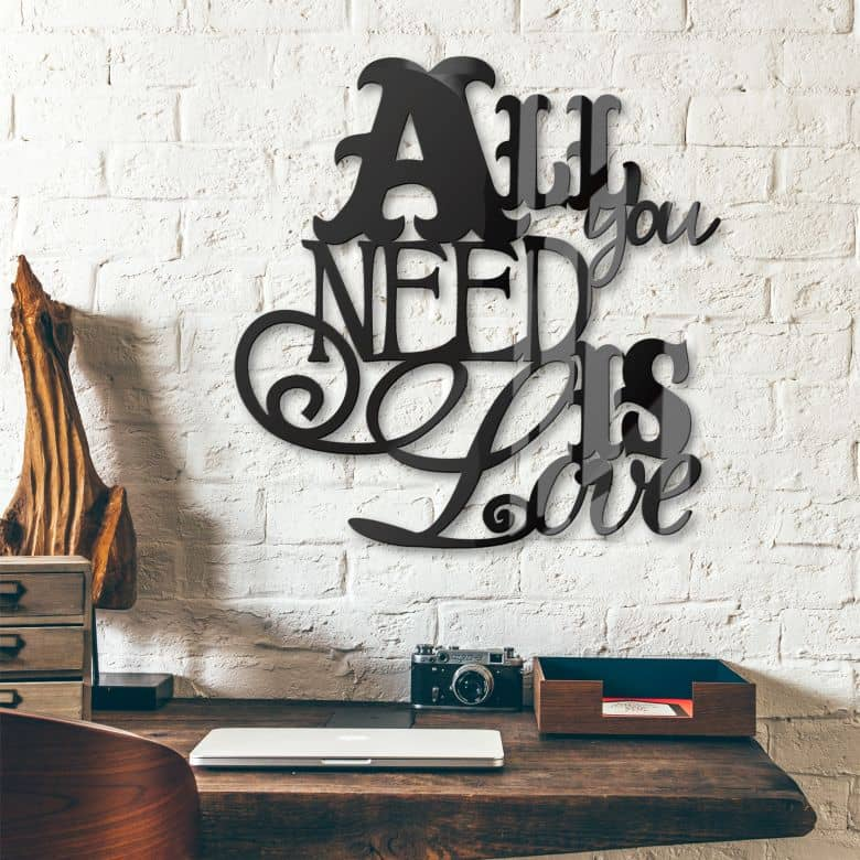 All you need is love – acrilico