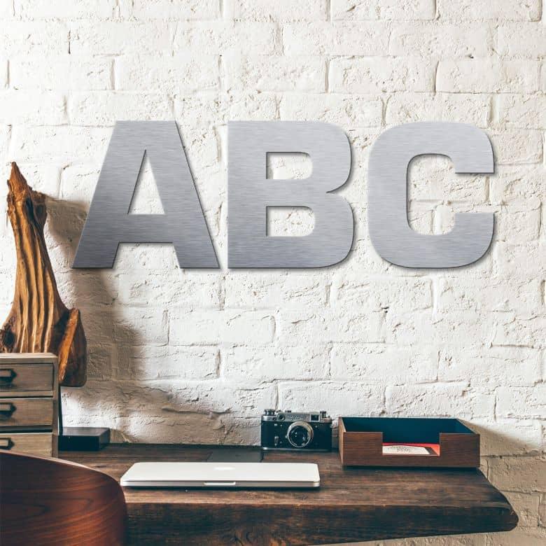 Deco letters Alu-Dibond zilver - Letters