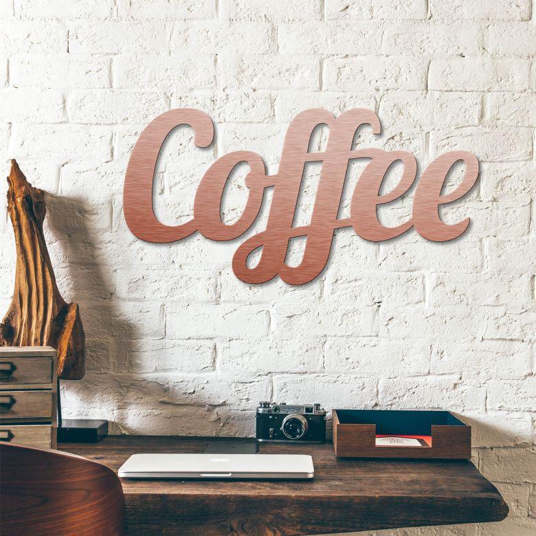 Scritta Alu-Dibond ramato – Coffee