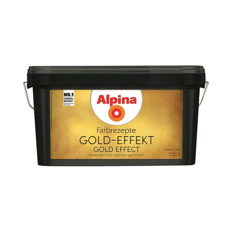Alpina Farbrezepte GOLD-EFFEKT Set - 3 Liter