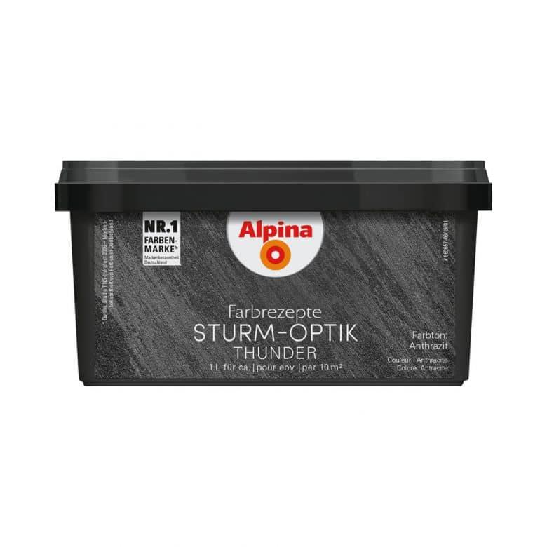 Alpina Farbrezepte STURM-OPTIK Anthrazit - 1 Liter