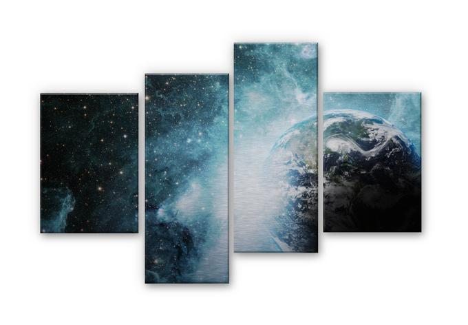 Alu-Dibond Bild In einer fernen Galaxie (4-teilig)