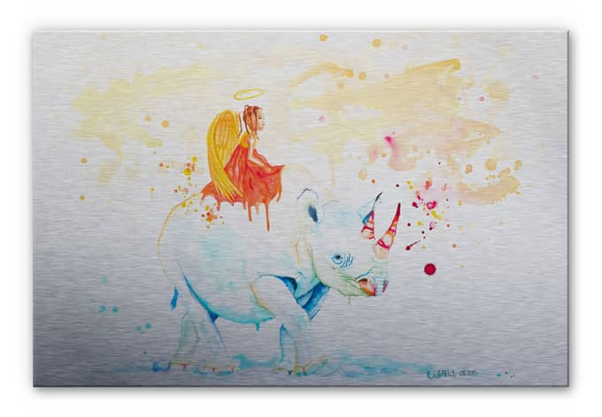 Alu-Dibond Bild Buttafly - Black Rhino