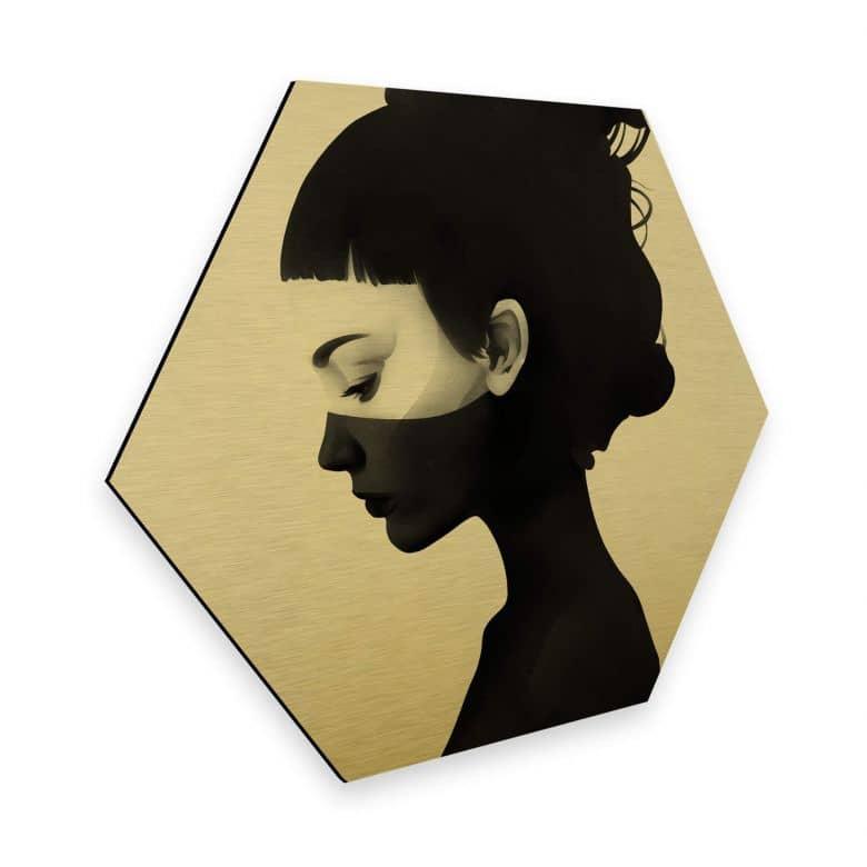 Hexagon - Alu-Dibond-Goldeffekt - Ireland - I am not here