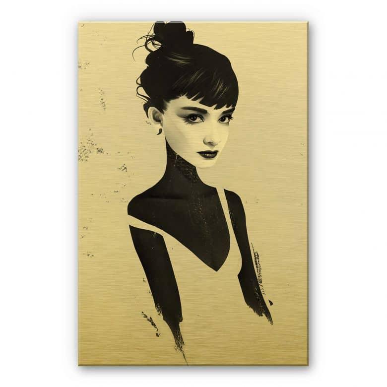 Alu-Dibond mit Goldeffekt Ireland - Oh Audrey