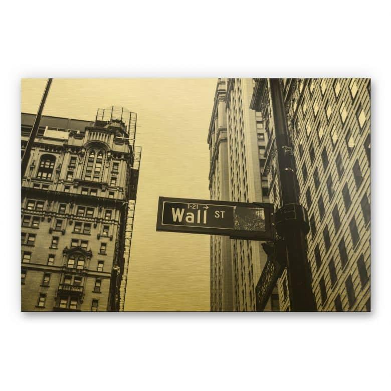 Alu-Dibond-Goldeffekt - Wall Street 02