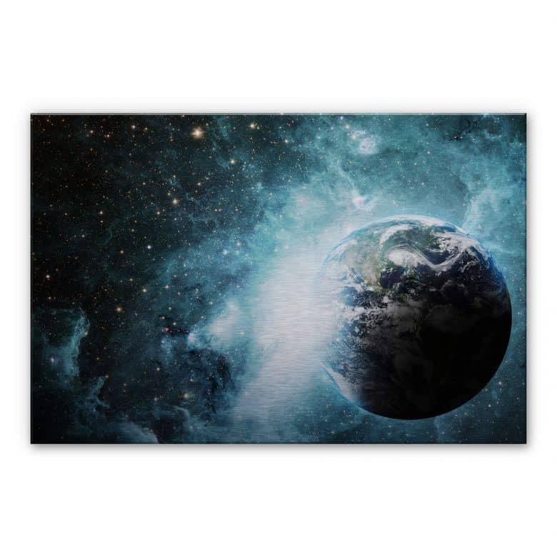 Distant Galaxy Aluminium print
