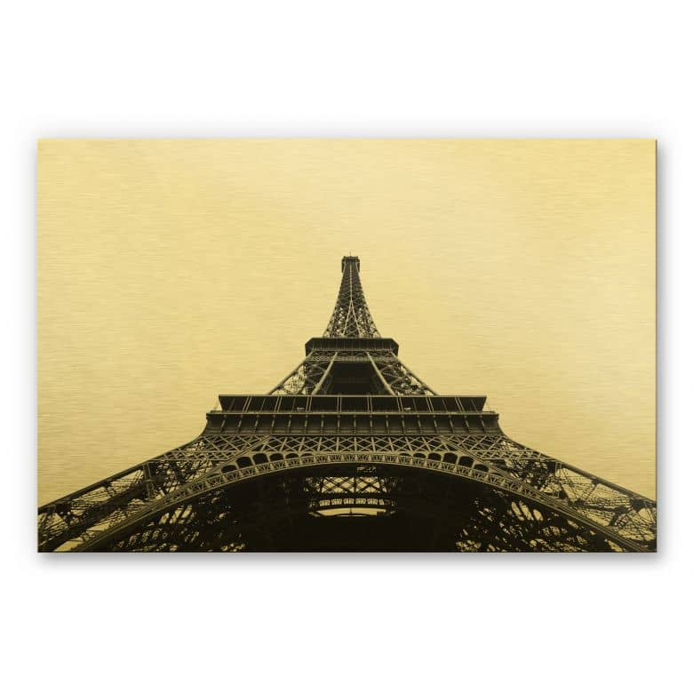 Alu-Dibond-Goldeffekt - Eiffel-Tower