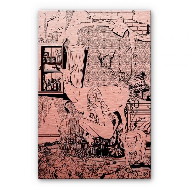 Alu-Dibond-Kupfereffekt - Drawstore  - In the Livingroom