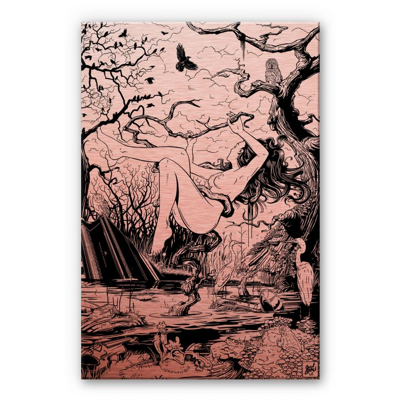 Alu-Dibond-Kupfereffekt - Drawstore  - Swampland
