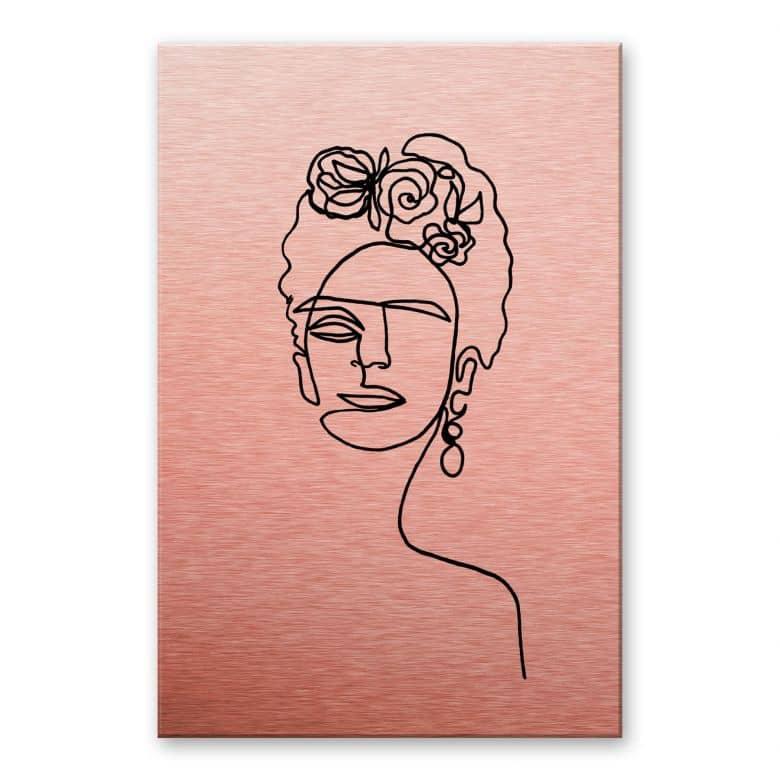 Alu-Dibond mit Kupfereffekt Hariri - Frida Kahlo