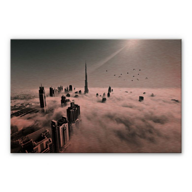 Alu-Dibond mit Kupfereffekt Naufal - Wolkenstadt