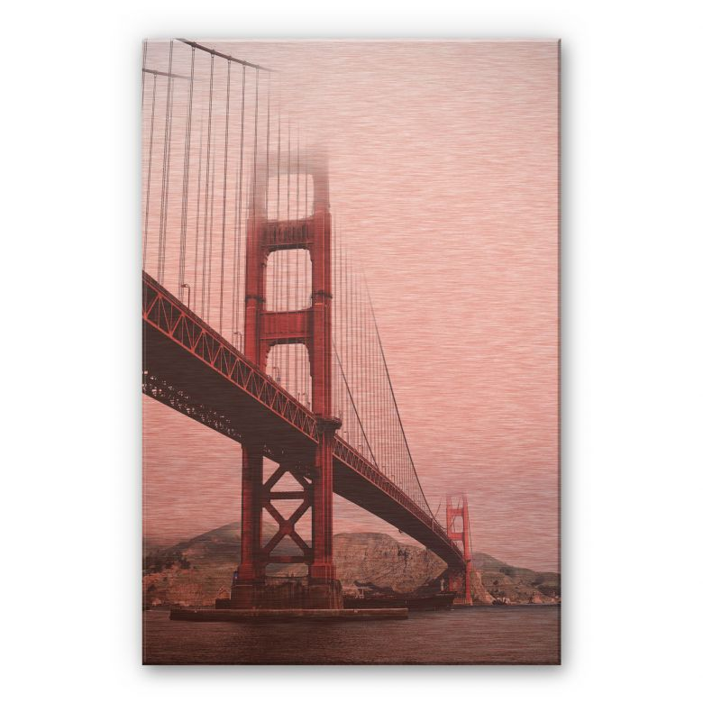 Alu-Dibond mit Kupfereffekt  - The Golden Gate Bridge 02