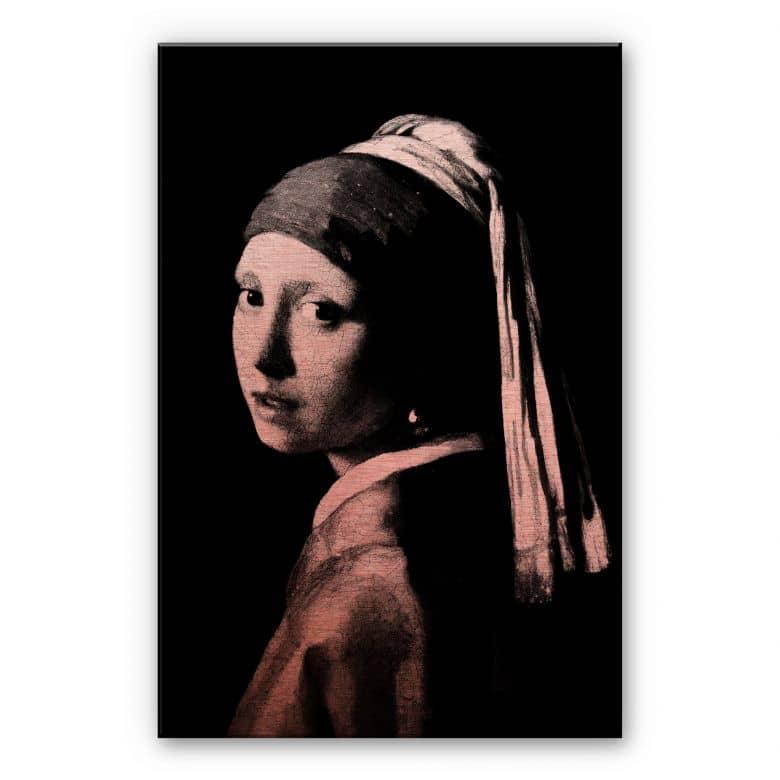 Alu-Dibond mit Kupfereffekt - Vermeer - Das Mädchen mit dem Perlenorhgehänge