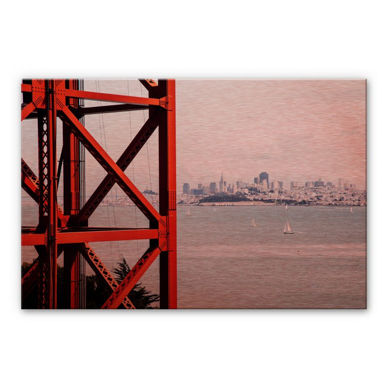 Alu-Dibond Bild Kupfereffekt - Vor den Toren von San Francisco