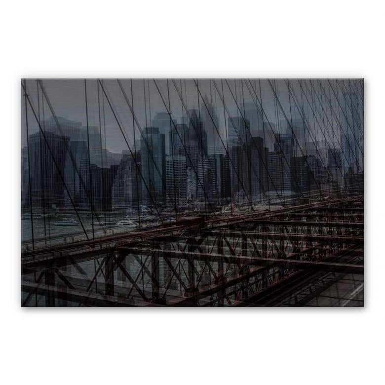 Alu-Dibond mit Silbereffekt Massimo - New York City