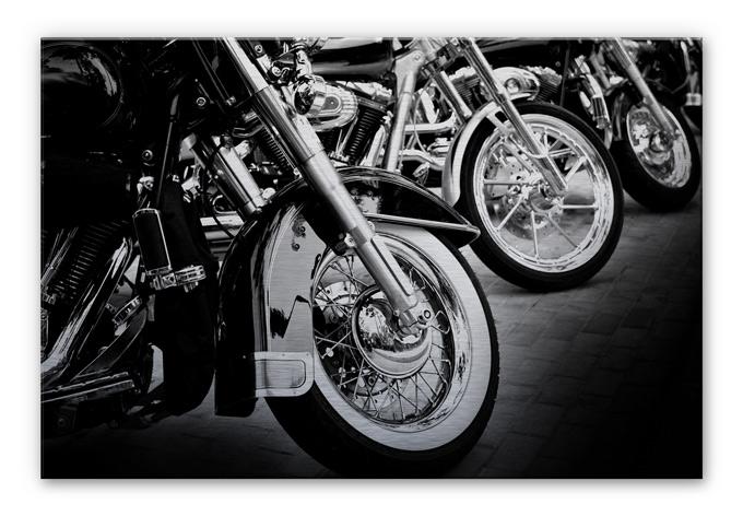 Alu-Dibond Bild Motorcycle Wheels