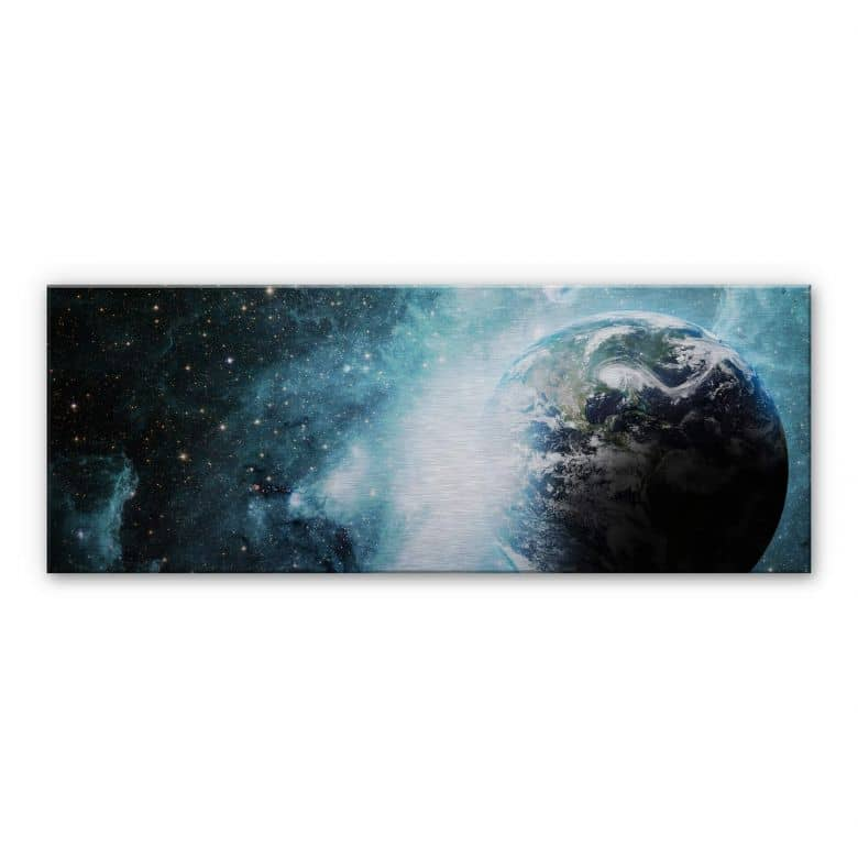 Alu-Dibond Bild In einer fernen Galaxie - Panorama