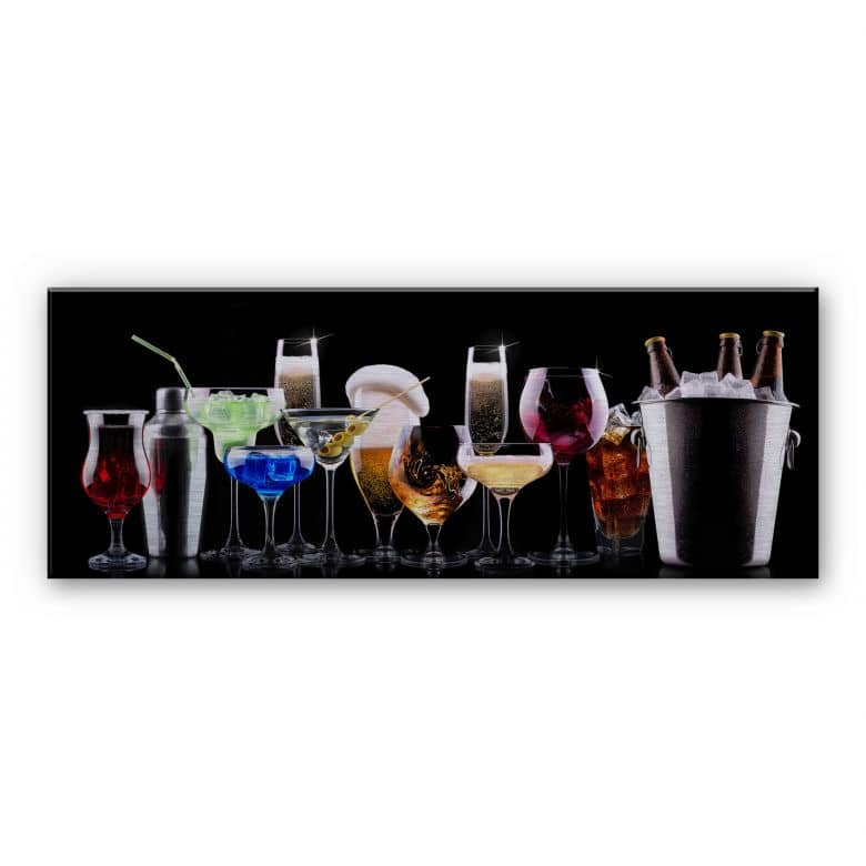 Alu-Dibond Bild Cocktail Feeling - Panorama
