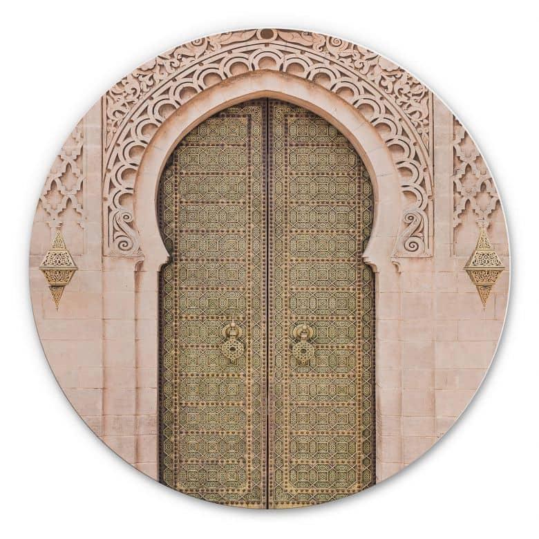 Alu-Dibond Sisi & Seb - Moroccan Door - Rund