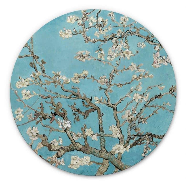 Wandcirkel van Gogh - Amandelbloesem