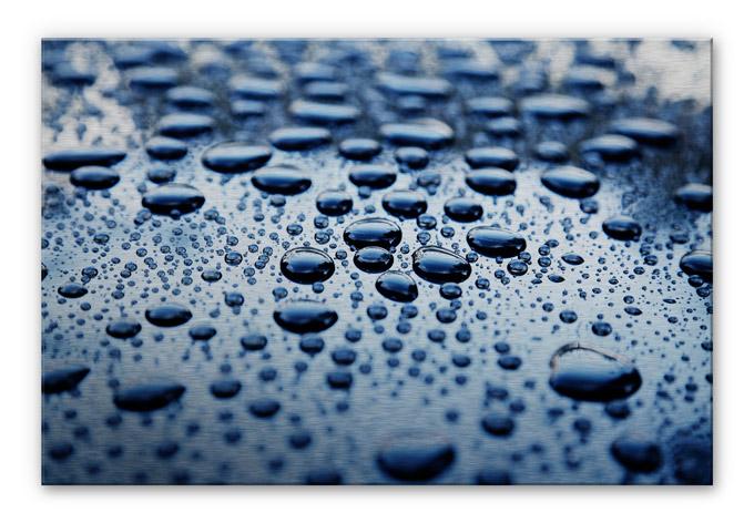 Alu dibond silber geb rstet waterdrops stylische deko - Stylische wandfarben ...