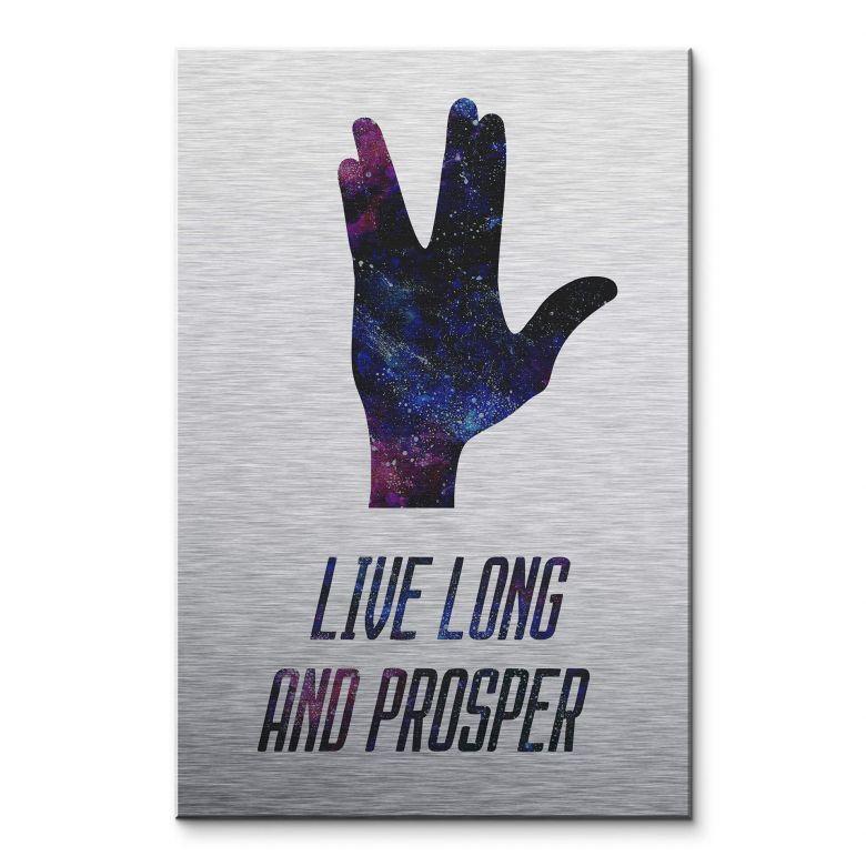 Alu-Dibond mit Silbereffekt Live long and prosper