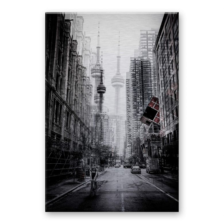 Alu-Dibond mit Silbereffekt Chiriaco - Straßen in Toronto
