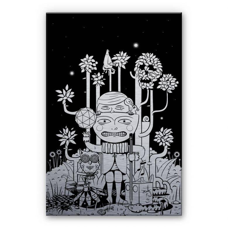 Alu-Dibond-Silberefekt  - Drawstore - In the Woods