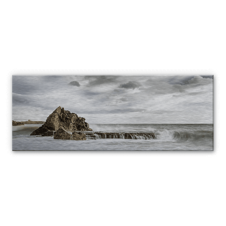 Rock in the breakers Aluminium Print - Panorama