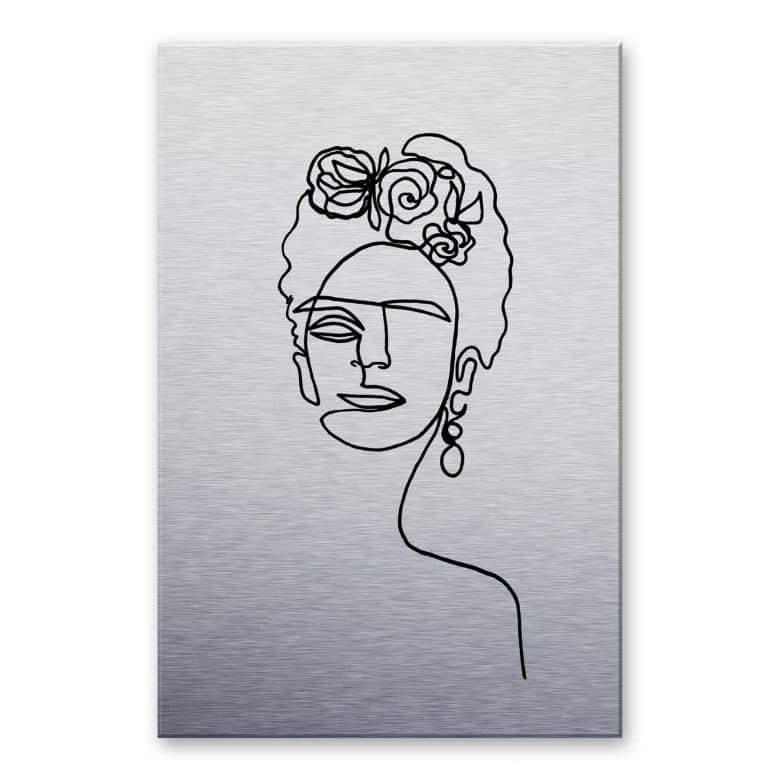 Alu-Dibond mit Silbereffekt Hariri - Frida Kahlo