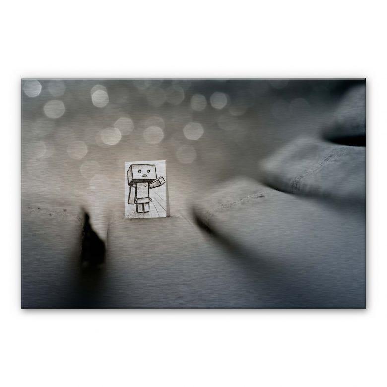 Alu-Dibond mit Silbereffekt Heine - Sei mein Freund