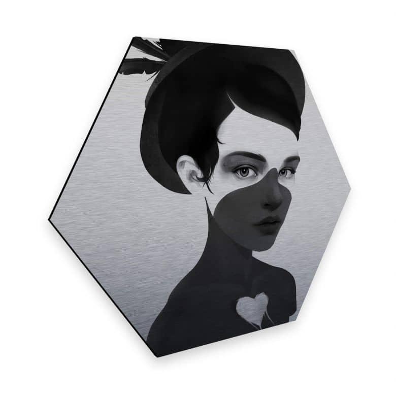 Hexagon - Alu-Dibond-Silbereffekt - Ireland - Fool