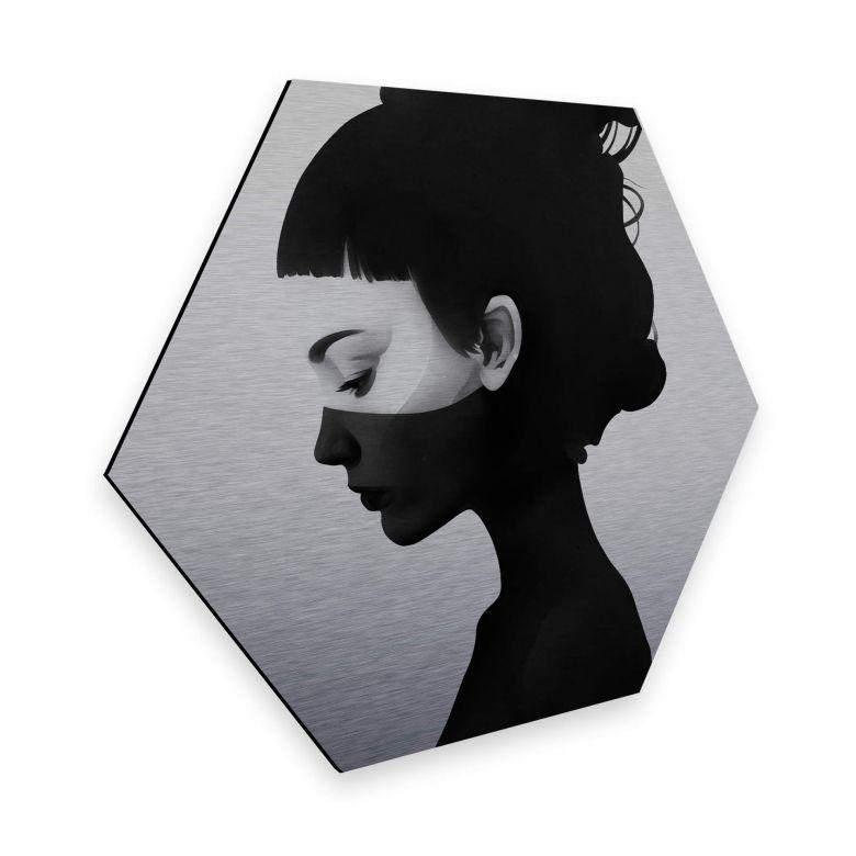Hexagon - Alu-Dibond-Silbereffekt - Ireland - I am not here
