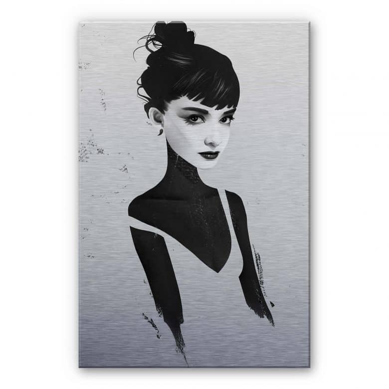 Alu-Dibond mit Silbereffekt Ireland - Oh Audrey