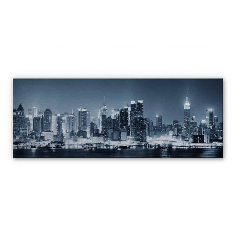 Tableau en Alu-Dibond - New York at Night 1 - Panorama