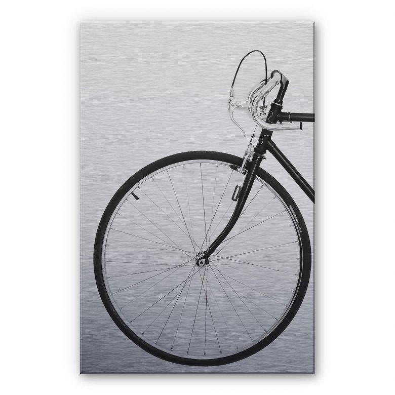 Alu-Dibond mit Silbereffekt Sisi & Seb - Das Fahrrad