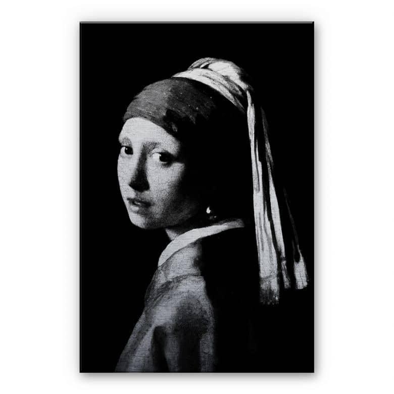 alu dibond silver vermeer the girl. Black Bedroom Furniture Sets. Home Design Ideas