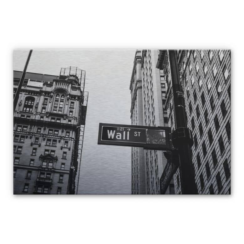 Alu-Dibond Bild - Wall Street 02