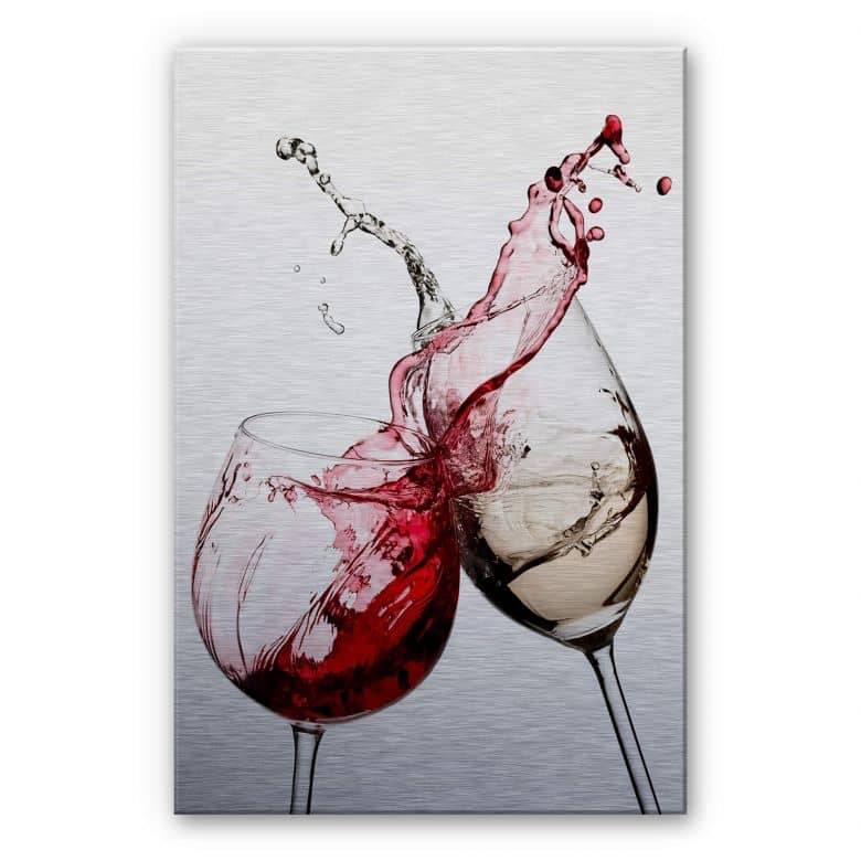 Wine Glasses Aluminium print